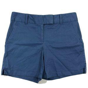 Ann Taylor Loft  Riviera Short Blue Stretch Chino